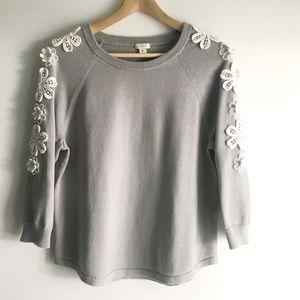 J. Crew | Flower-Sleeve Sweater